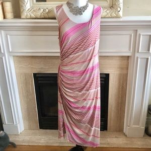 BAILEY 44 Reina Striped Sleeveless Midi Dress